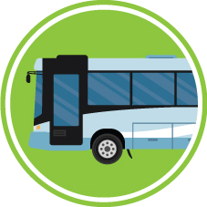 Icon of a bus to show how Connecting Oxford will help improve public transport